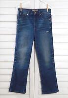 "POINT SUR J.Crew $128 Demi-Boot Cut 9"" Crop Cropped Homestead Jeans Size 27"