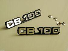 Pair Honda CB100 K2 Side Frame Cover Emblem Badge Logo + Mount Clips Nut Speed