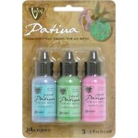RANGER Vintaj Patina Permanent Metal Inks Paint 3 pack Fast Drying ABALON PEARL