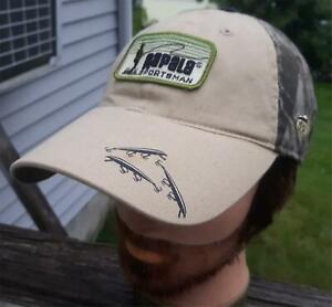 RAPALA Sportsman  Fishing Patch & Lures & Fish  Adjustable Fishing Hat Beige