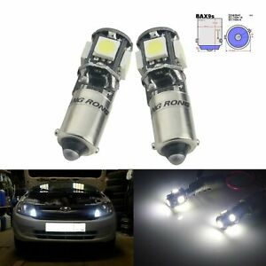 2x Canbus H6W BAX9s 5050 LED Side Indicator Parking Brake Light Bulbs Error Free