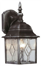 Outdoor Leaded 4 Sided Lantern Wall Light Garden With JCB 6w LED