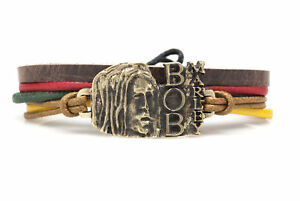 Bob Marley Fashion Style Jewelry Cute Leather Charm Bracelet Bangle DIM221