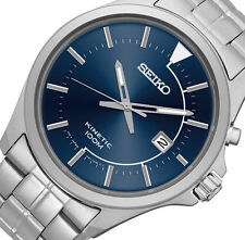 PRE-OWNED Seiko Men's Stainless Steel Kinetic Date Japanese Quarz Watch SKA581
