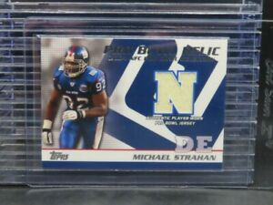 2004 Topps Michael Strahan Jersey Game Used Pro Bowl Relic #PB-MS Giants Z382