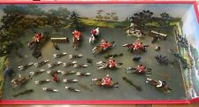 Mignot Stag Hunt Diorama No. 710.  Spectacular action & color.  Mint. 1985.  Gus