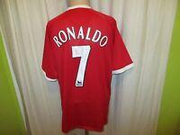 """Manchester United Original Nike Heim Trikot 2006/07 """"AIG"""" + Nr.7 Ronaldo Gr.XL"""