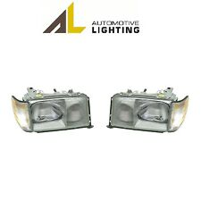 NEW Mercedes W124 Pair Set of 2 Front Headlights with Turn Signal Lights OEM AL