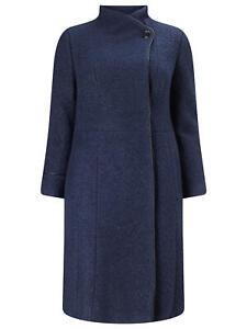 NEW Ladies Women Phase Eight Studio 8 VERITY FUNNEL NECK COAT Size 22,24,26 NAVY