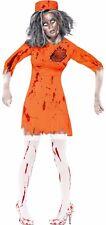 Zombie Death Row Diva-Ladies Zombie Halloween Fancy Dress Costume Medium