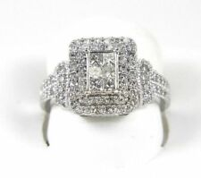 In 14K White Gold Over For Women's 3.00 Ct Princess Cut Diamond Engagement Ring