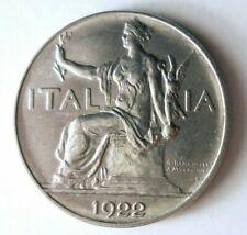 1922 ITALY LIRA - AU/UNC GEM - Awesome Coin - FREE SHIP - HV30