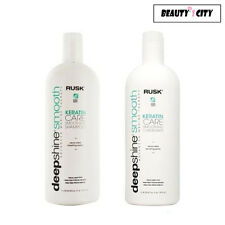 Rusk Deepshine Smooth Keratin Care Smoothing Shampoo and Conditioner 33.8 oz