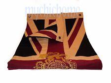 Vintage Union Jack Flag with Gold Royal Coat of Arms Crest | Cotton Authentic WM