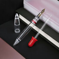 EF Nib Moonman M2 Transparent Fountain Pen High Capacity BACK TO Birthday Gift