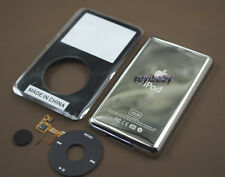 black front faceplate back case housing clickwheel button fr ipod 5th video 30gb