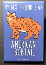 American Bobtail Cat Magnet Handmade Kitty Cartoon Art Gifts and Home Decor