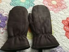 Leather Mittens Brown/Women's Small New without tags