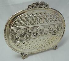 """""""HaZorfim"""" Israel DECORATED NAPKIN HOLDER 163g STERLING SILVER GREAT CONDITION"""