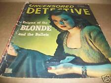 VINTAGE MAGAZINE, UNCENSORED DETECTIVE, OCT.- 1946~VOL.2-NO.4, RARE, COLLECTIBLE