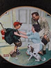 1990 Norman Rockwell Coming of Age HOME FROM CAMP Boy & Dog  Ltd Ed Plate