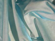 Blue iridescent organza fabric Italian sheer material 1 yard 15 inches
