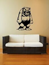 Wall Stickers Vinyl Decal Funny Grizzly Bear Animal ig592