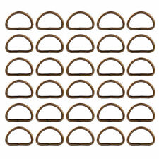25pcs Metal D Ring Buckle fit for Strapping Webbing Purse Leather Bag Crafts