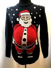 Ugly Christmas Sweater Beer Belly Santa Men's Small New with Tags 3 Dimensional