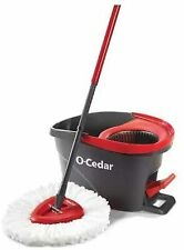 O-Cedar Easywring Microfiber Spin Mop&Bucket Floor Cleaning System with 1 Extra