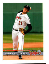 Osman Gutierrez 2017 Lansing Lugnuts team set card Nicaragua