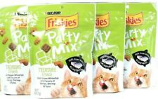 4 Bags Purina Friskies 6 Oz Party Mix Treasure Crunch Real Whitefish Cat Treats