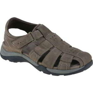 Earth Spirit Kodiak Mens Brown Leather Fisherman Closed Toe Sandals Size 7-12