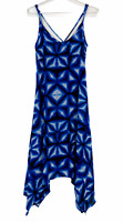 Capture Womens Blue Sleeveless Spaghetti Strap Lined Dress Size 8