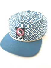 Vans x T&C Surf Designs Hawaii Blue & White Snapback Hat Cap Limited Release Nwt