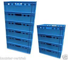 10 Stück E2 Stapelbox Gemüsekiste Vorratsbox Lagerbox lebensmittelecht blau NEU