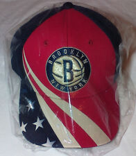 adidas BROOKLYN NETS NBA NEW YORK AMERICAN FLAG July 4th Patriotic Baseball Hat