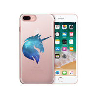 HAIRYWORM FUNNY UNICORNS ON CLEAR HARD PHONE CASE FOR SAMSUNG GALAXY S / NOTE
