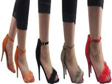 Scarpe da donna spillo marrone sintetico