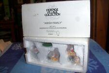 Dept 56 Amish Family #59480 New England Village / Retired Nib