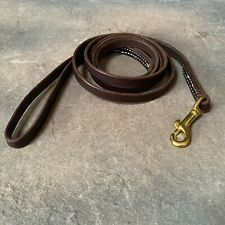 "Leather Dog Leash Lead Personalized Color Choice Amish Made 6' long 1/2"" wide"