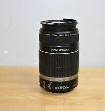Canon EF-S Lens 55-250mm 1:4-5.6 Zoom Lens