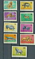 African Wild Animals Guinea #512-18,C105-6 Scarce Mint NH IMPERF 1968 Set Cplt