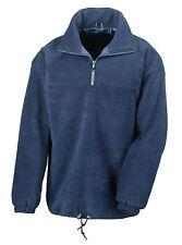 Result Lined Zip Neck Fleece Top Jacket 2 Cols S-xxxl Windproof Warm Womens Mens Navy Blue L