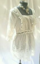 Unbranded Lace 3/4 Sleeve Machine Washable Tops for Women