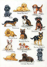 Cross Stitch Kit ~ Dimensions Dog Sampler w/12 Unique Dogs & Puppies #70-35353