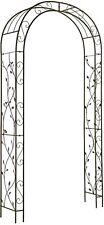 "Garden Arbor Arch Metal Iron 7'8"" Accent Climbing Vines Plants Lawn Decorative"