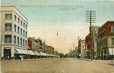 Wisconsin, WI, Appleton, College Ave, East fr Pettibone's Corner Early Postcard