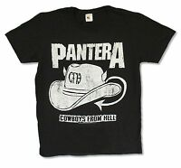 """PANTERA """"DISTRESSED HAT"""" BLACK T-SHIRT NEW OFFICIAL ADULT"""