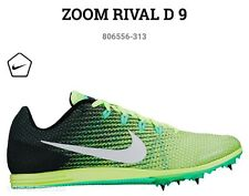 NIB NIKE Zoom Rival D 9 Distance Running Shoes Spikes Ghost Green 13